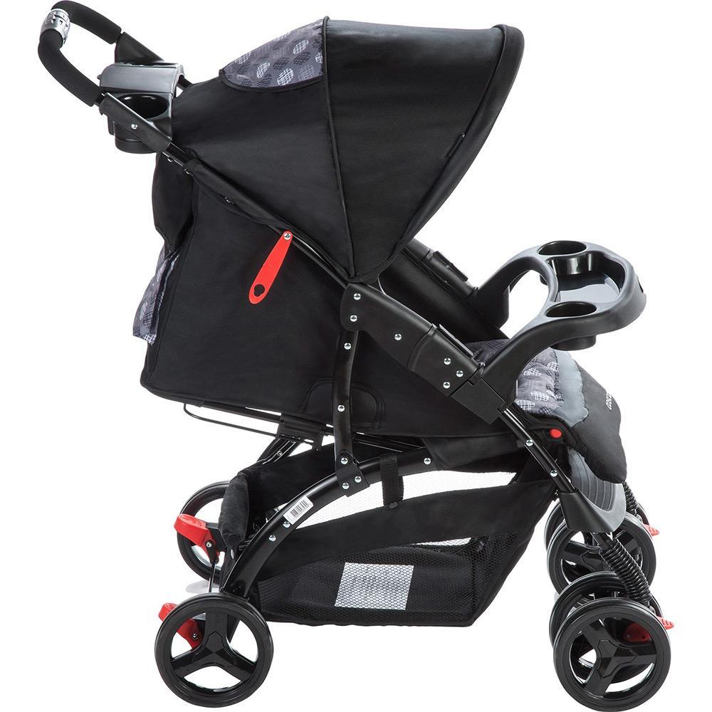 Carrinho Travel System Com Bebê Conforto Moove Cinza Trama - Cosco