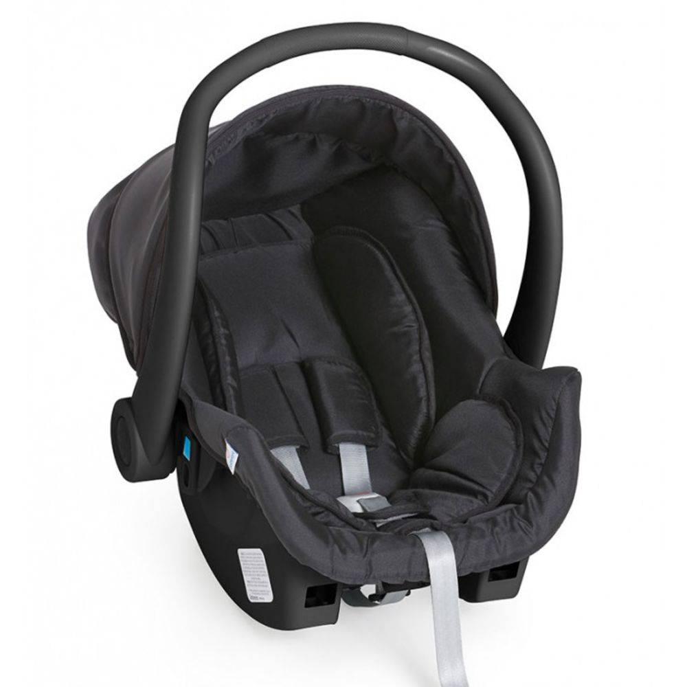 Carrinho Travel System Moisés com Bebê Conforto Tessy Cinza / Preto - Galzerano