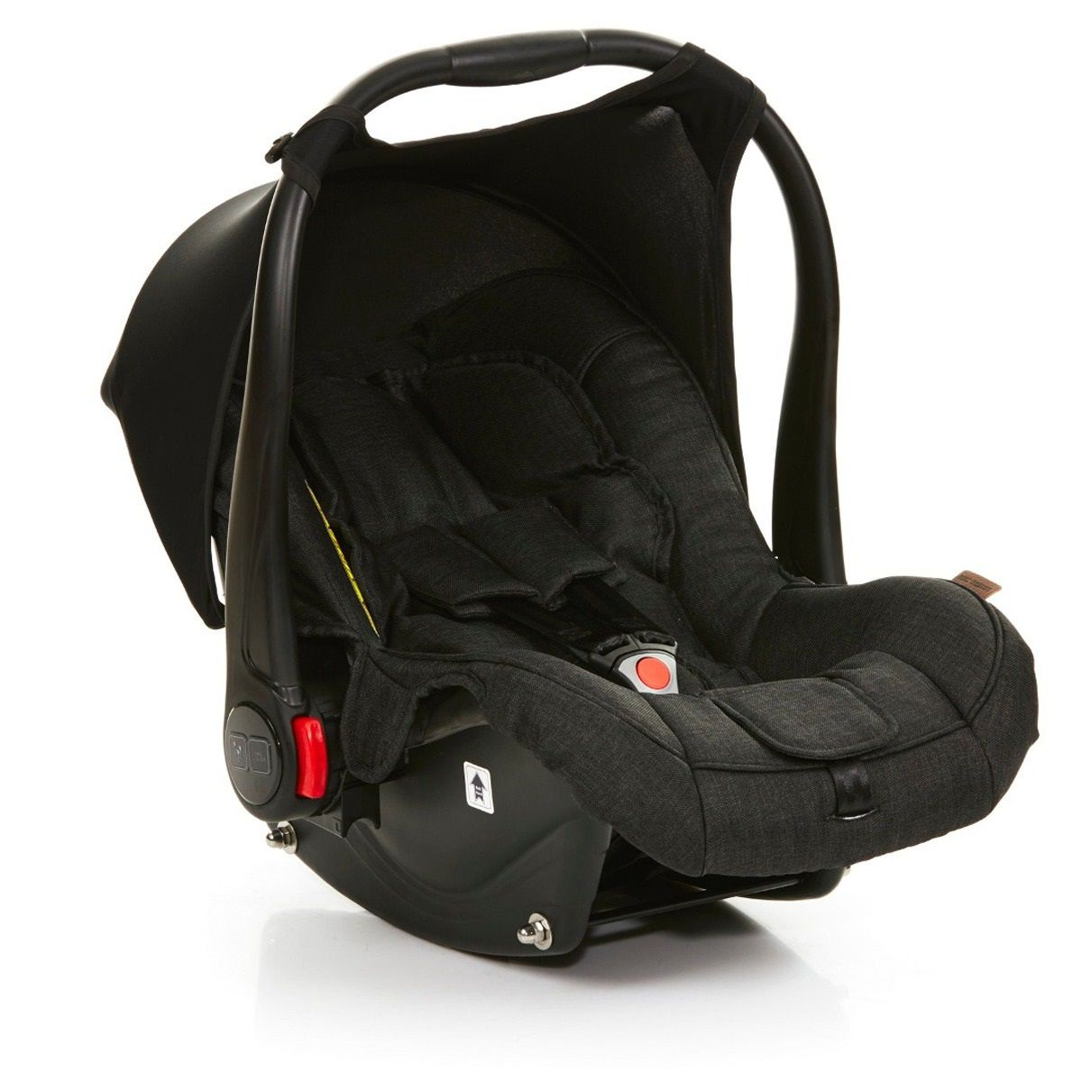 Kit Carrinho Moisés COMO 4 com Bebê Conforto + Bolsa Wover Black (Det. Couro) - ABC Design