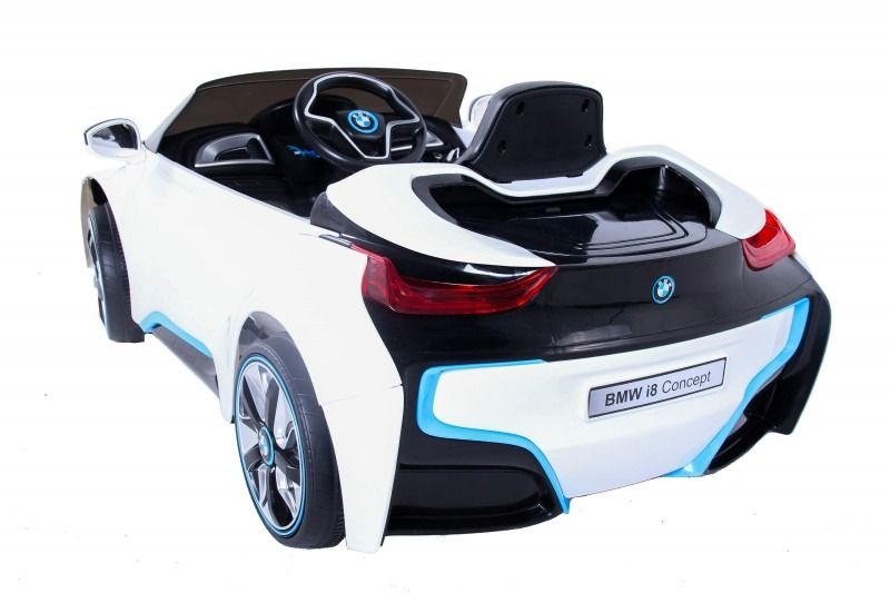 Mini Carro Elétrico BMW I8 Controle Remoto 6V Branco - Belfix