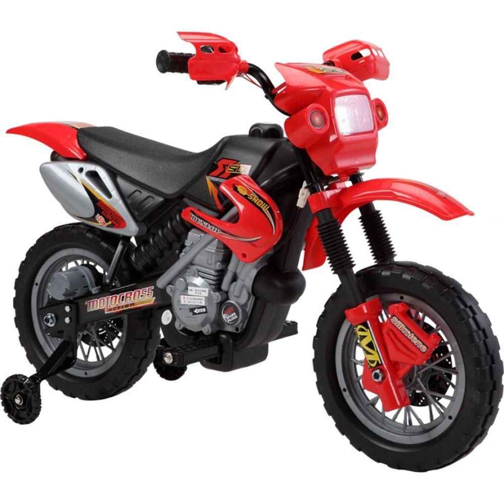 Super Moto Cross Vermelha 6v Farol e Buzina - Belfix