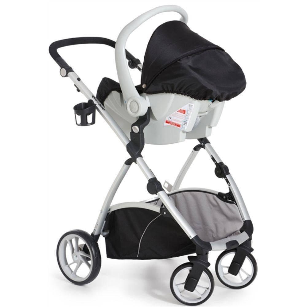 Travel System Maly + Bebê Conforto Cocoon Preto - Dzieco