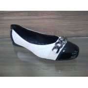 Sapato Matelassê Verniz Branco