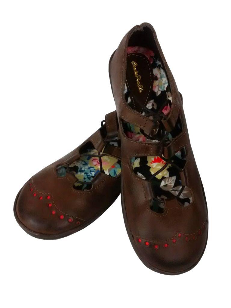 Sapato Boneca Cadarço - 50% desconto