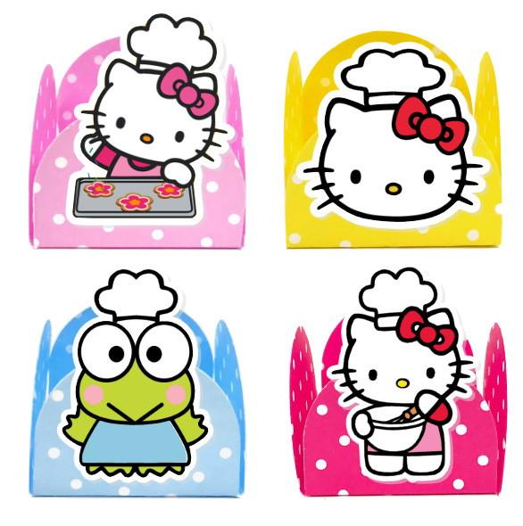 Forminha 3D - Hello Kitty  - Marina Levy Festas