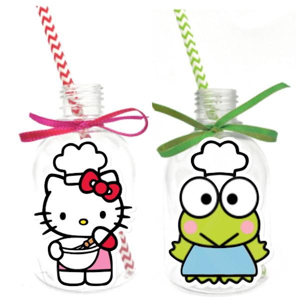 Garrafa Suco + Canudo - Hello Kitty  - Marina Levy Festas