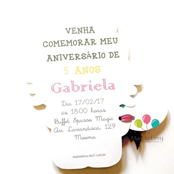 Convite Corpinho - Hello Kitty  - Marina Levy Festas