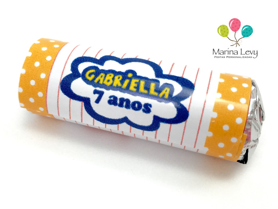 Rótulo Mini Mentos 18un. - Chiquititas  - Marina Levy Festas