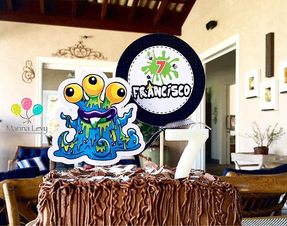 Topo de bolo - Trash Pack  - Marina Levy Festas