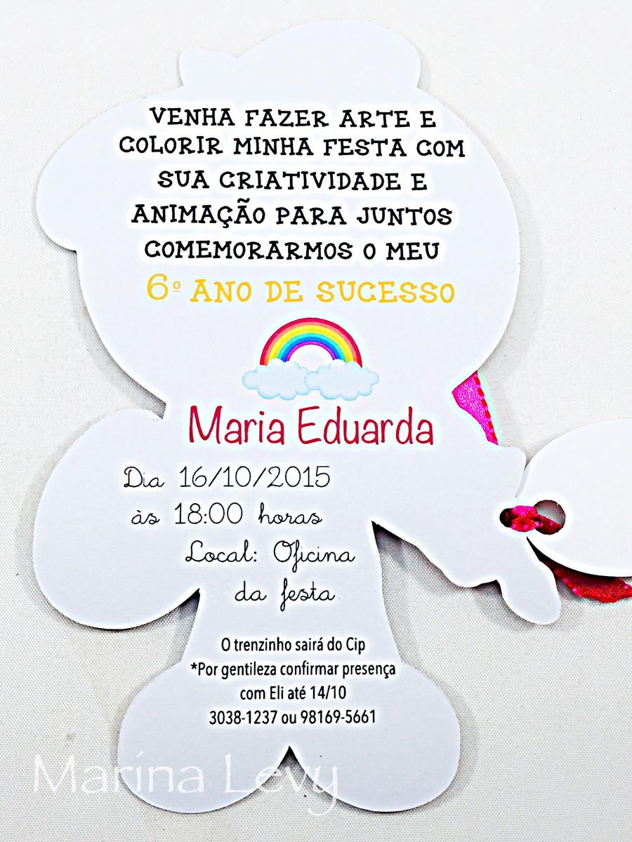 Convite Corpinho - Artes  - Marina Levy Festas