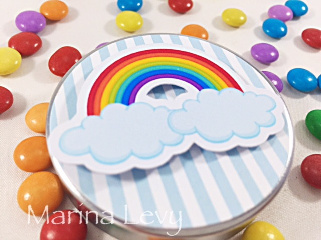 Latinha 3D - Arco Iris  - Marina Levy Festas