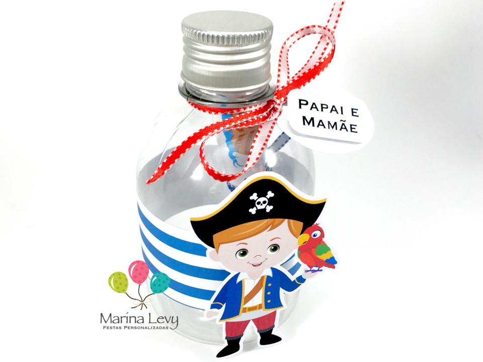Convite Garrafinha - Pirata  - Marina Levy Festas