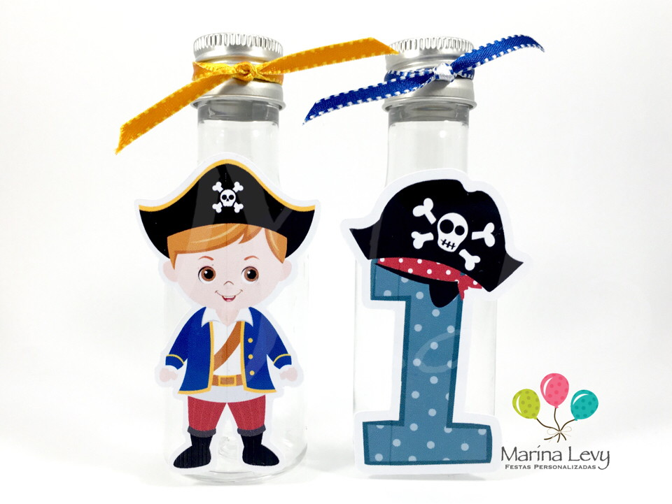 Garrafinha 50ml - Pirata  - Marina Levy Festas