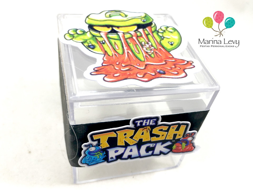 Caixinha Acrílico - Trash Pack  - Marina Levy Festas