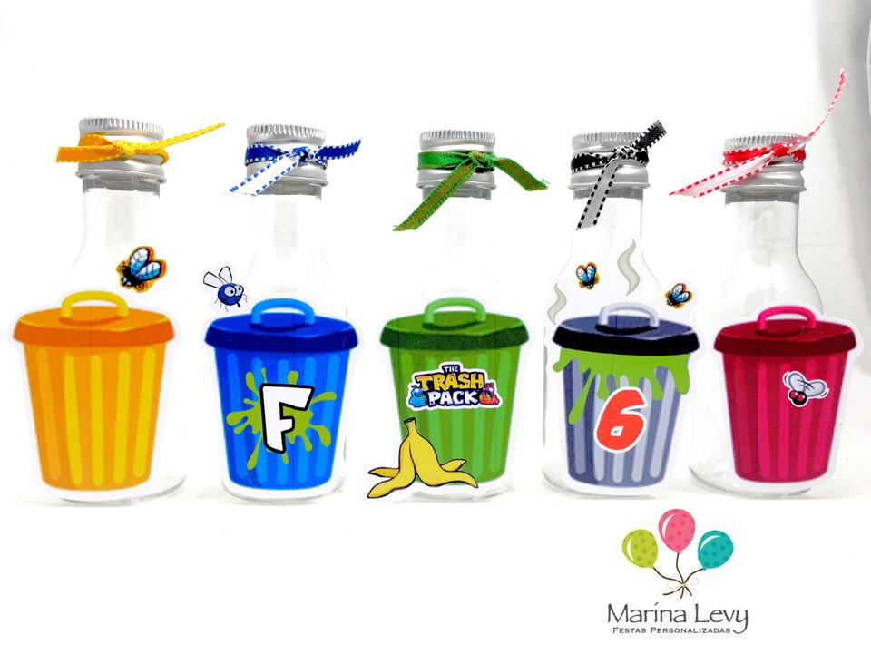 Garrafinha 50ml - Trash Pack  - Marina Levy Festas