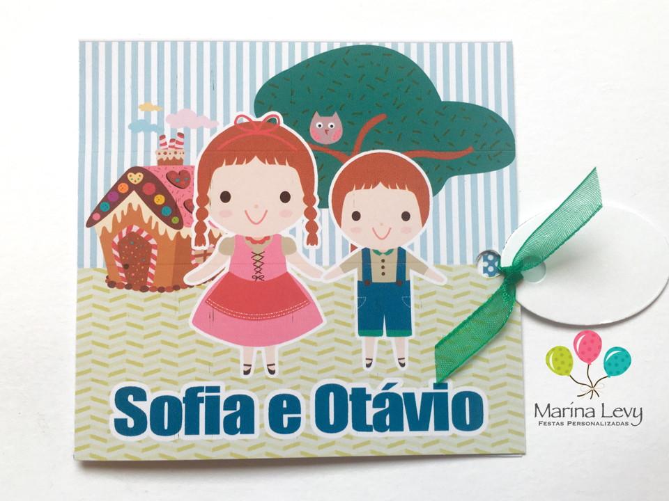 Convite Quadrado - João e Maria