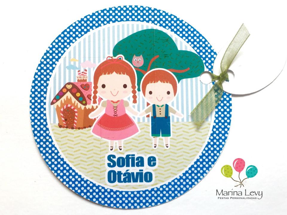 Convite Redondo - João e Maria
