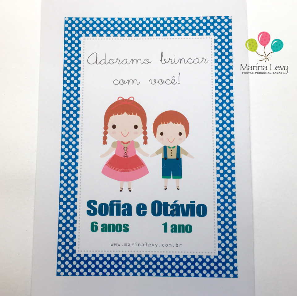 Kit Colorir - João e Maria  - Marina Levy Festas