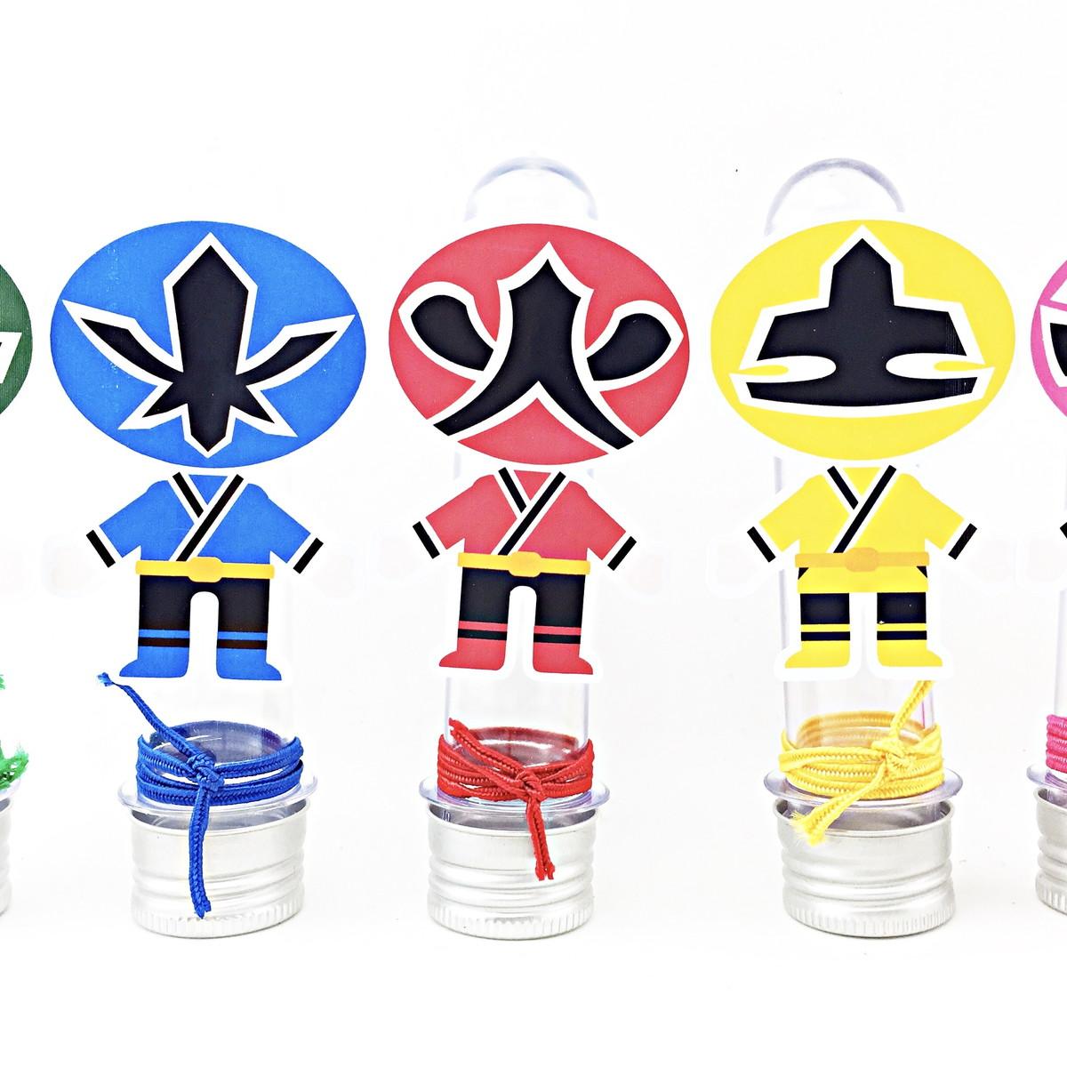 Tubete - Power Rangers  - Marina Levy Festas