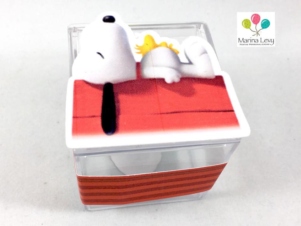 Caixinha Acrílico - Snoopy  - Marina Levy Festas