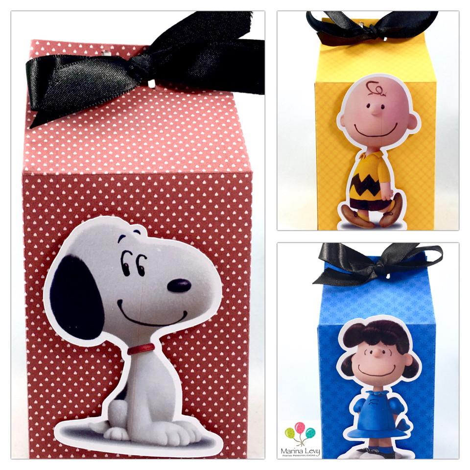 Caixinha Milk - Snoopy  - Marina Levy Festas