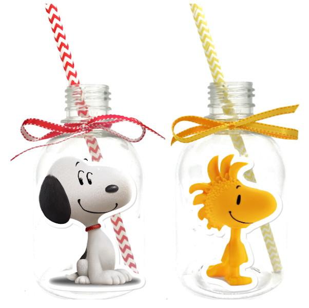 Garrafa Suco + Canudo - Snoopy  - Marina Levy Festas