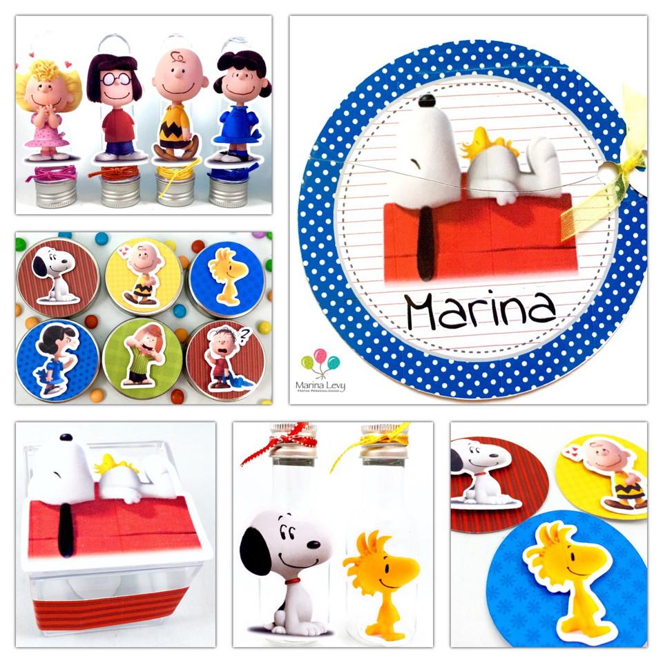 Kit Festa 150 Itens 3D - Snoopy