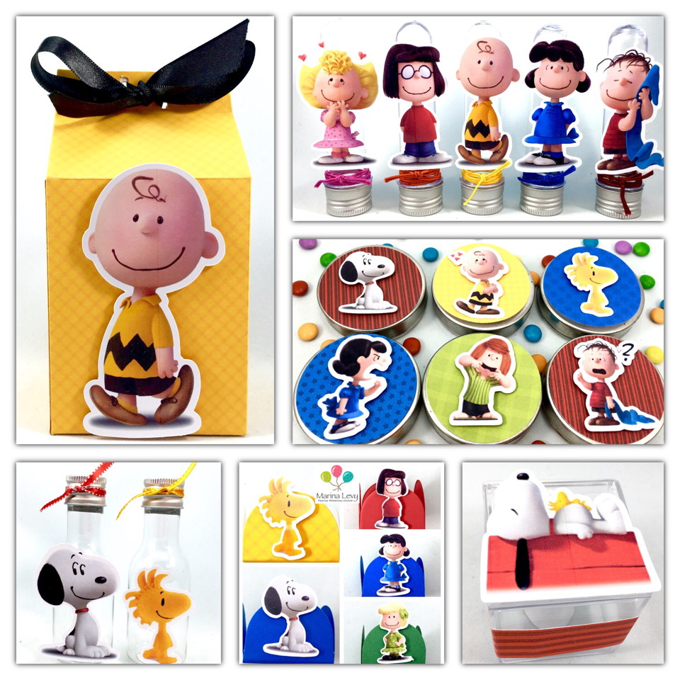 Kit Festa Scrap - Snoopy  - Marina Levy Festas