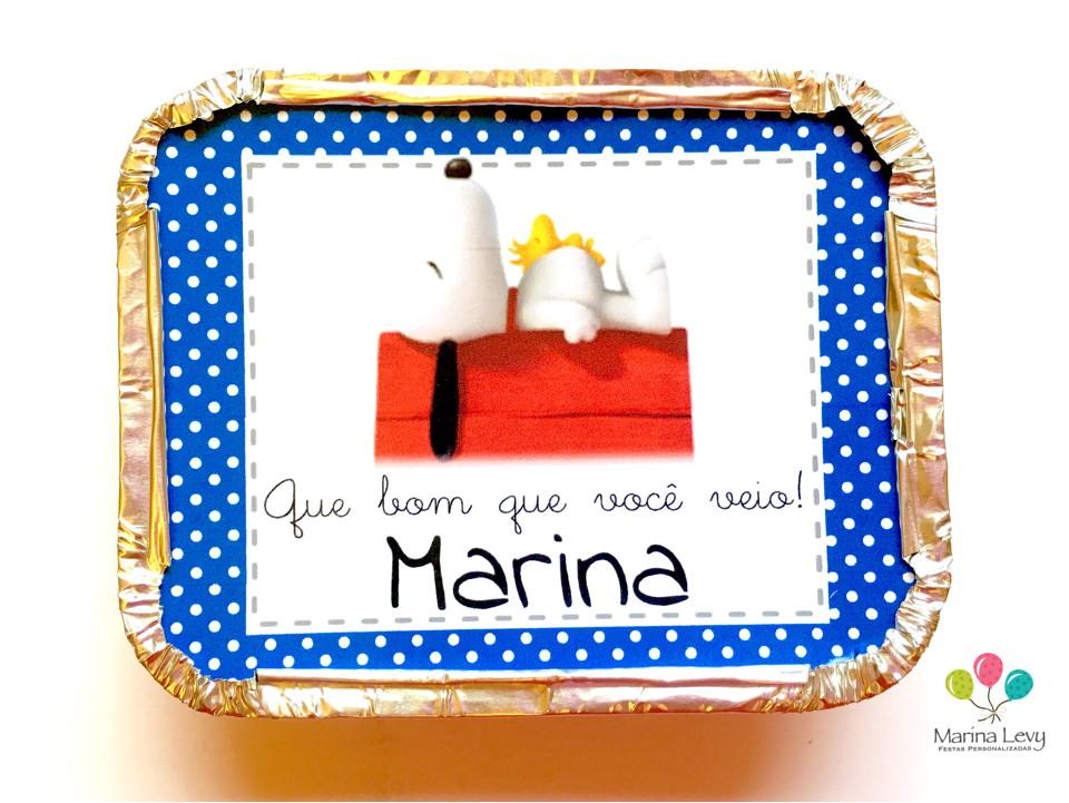Mini Marmitinha - Snoopy  - Marina Levy Festas