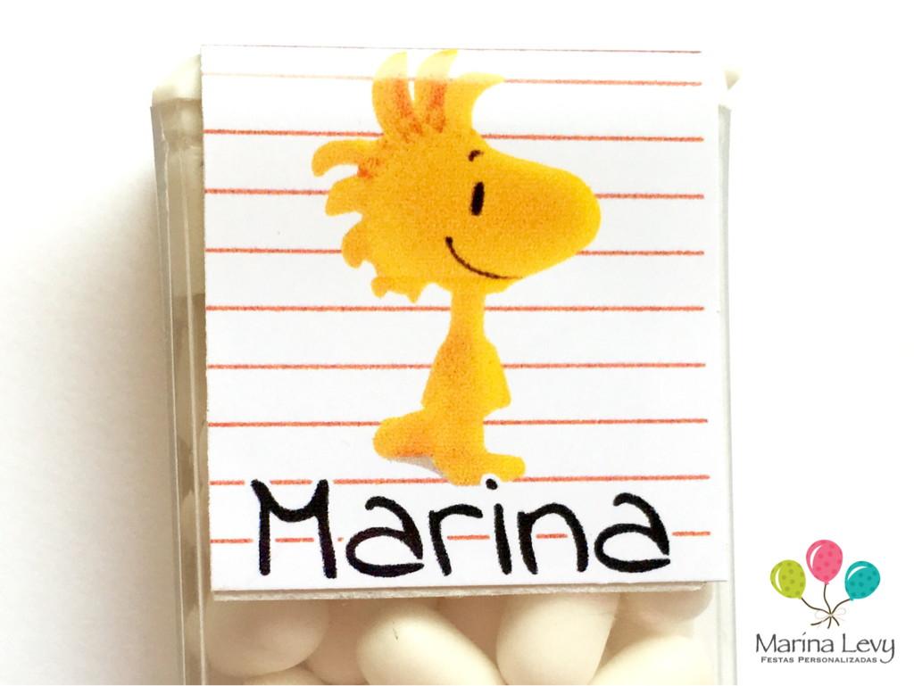 Rótulo Tic Tac 18un. - Snoopy  - Marina Levy Festas