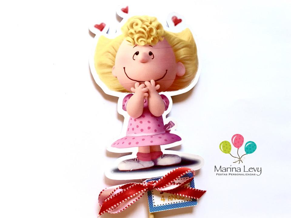 Palito Dupla Face - Snoopy  - Marina Levy Festas