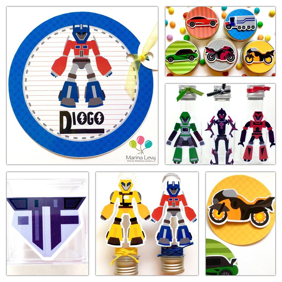 Kit Festa 150 Itens 3D - Transformers