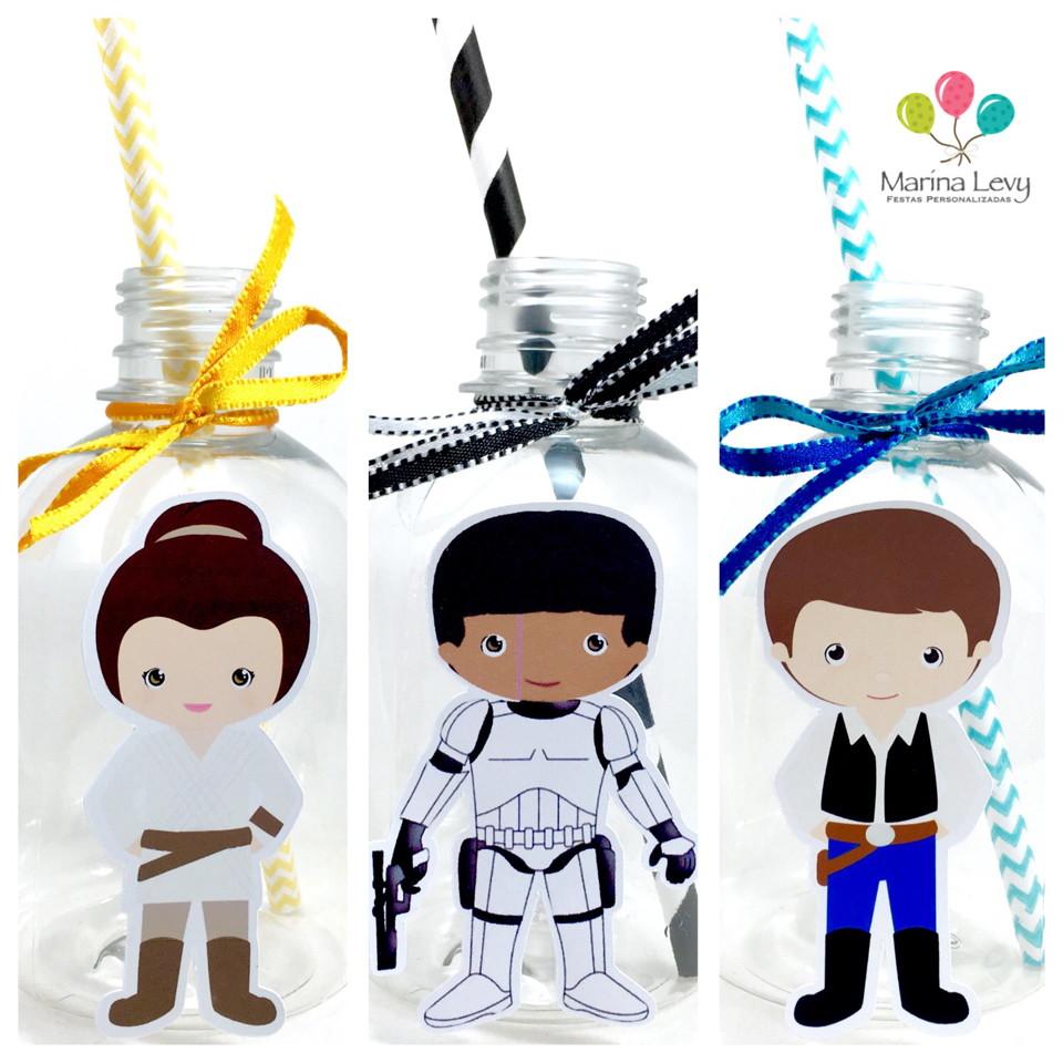 Garrafa Suco + Canudo - Star Wars