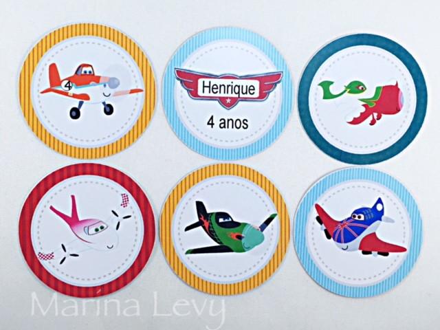 Aplique 3,5cm - Aviões  - Marina Levy Festas