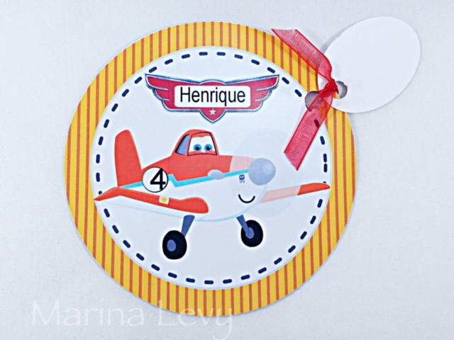 Convite Redondo - Aviões