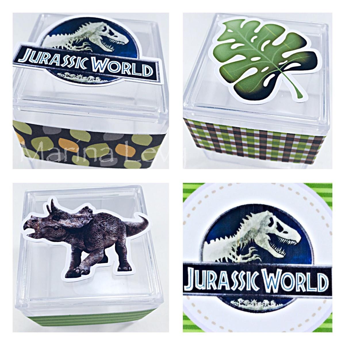 Caixinha Acrílico - Dinossauros
