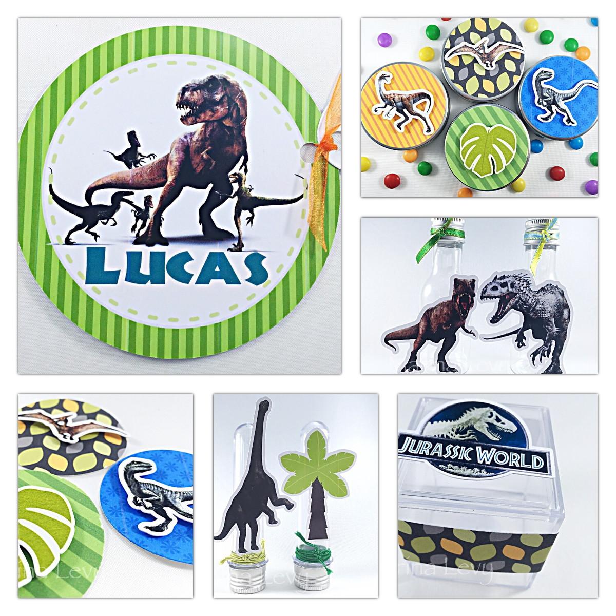 Kit Festa 150 Itens 3D - Dinossauros