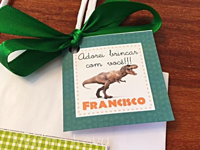 Tag de Agradecimento - Dinossauros