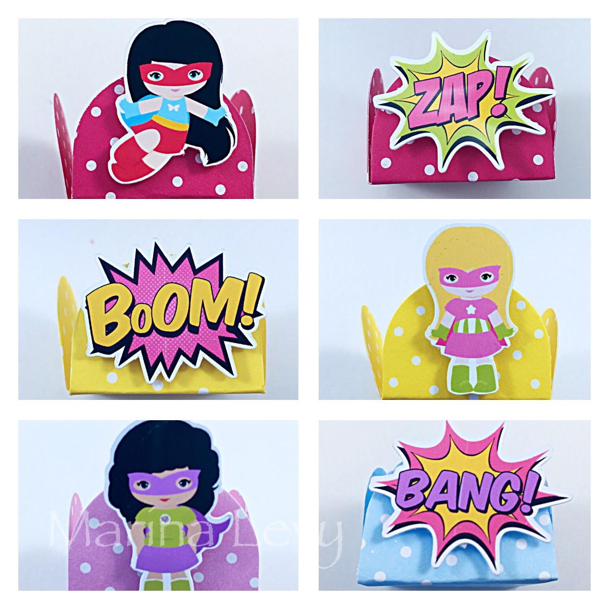 Forminha 3D - Super Heroinas