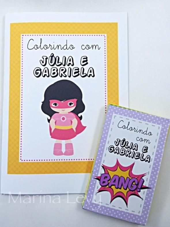 Kit Colorir - Super Heroinas  - Marina Levy Festas