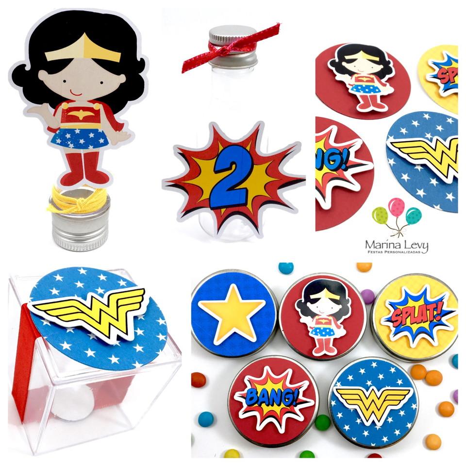 Kit Festa Premium 3D - Super Heroinas
