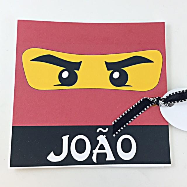 Convite Quadrado - Ninjago