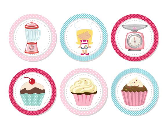 Aplique 3,5cm - Cupcake
