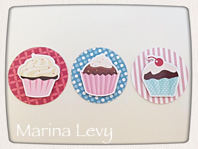 Aplique 3D - Cupcake