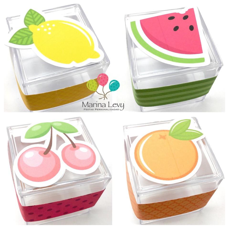 Caixinha Acrílico - Frutinhas