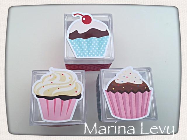 Caixinha Acrílico - Cupcake