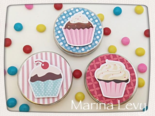 Latinha 3D - Cupcake