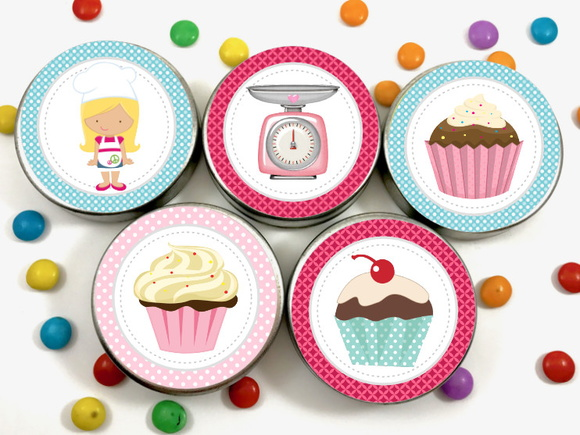 Latinha Adesivo - Cupcake