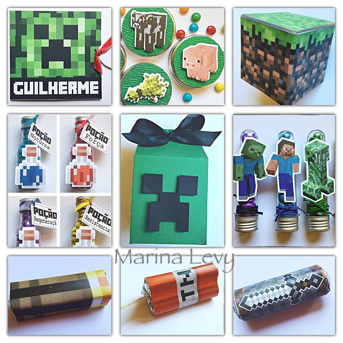 Kit Festa 220 Itens - Minecraft