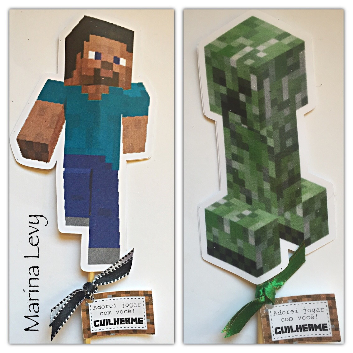 Palito Dupla Face - Minecraft